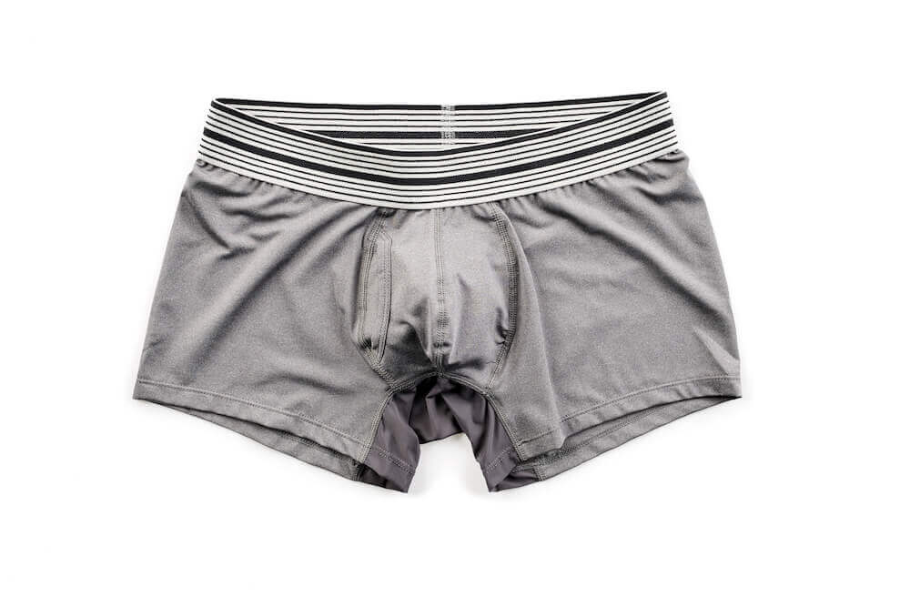 Mr. Davis Gray Sport Trunk Cut Boxer Brief Underwear