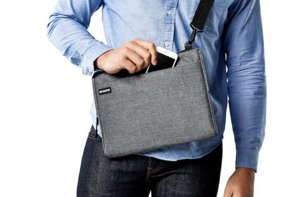 Our laptop sleeve converts into a minimalist laptop bag using the included strap.
