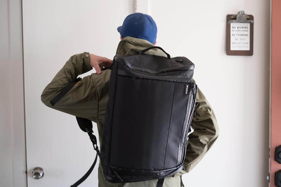 Continuum 2.0 Converts from a Shoulder Bag to a Backpack Carry-On