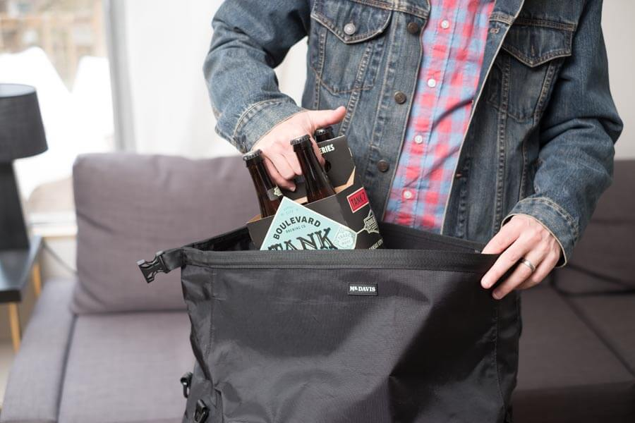 The Tactical Rolltop Weekender gives you space to stuff whatever you need into it.