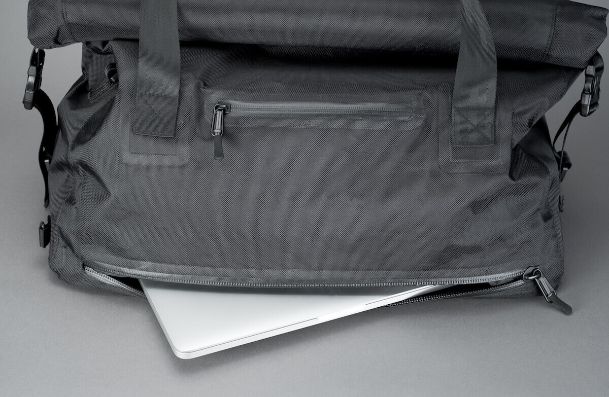 Tactical Rolltop Weekender with Waterproof Zipper Laptop Compartment