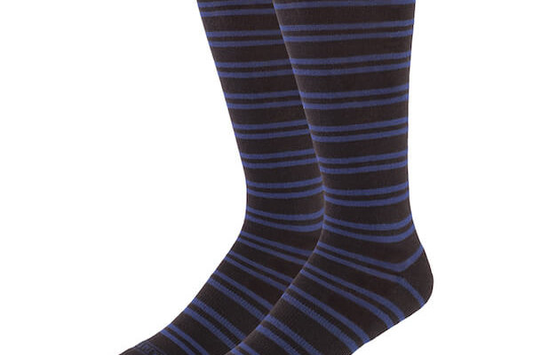 Black with Navy Stripes