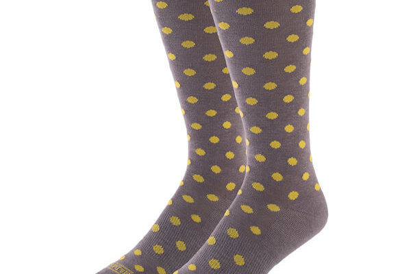 Grey with Lime Dots