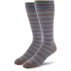Grey with Marina Blue Stripes